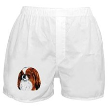 Japanese Chin Red Portrait Boxer Shorts