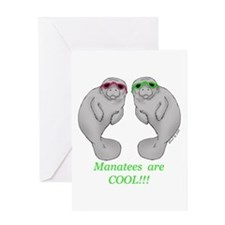 Cool Manatee Greeting Card