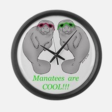 Cool Manatee Large Wall Clock