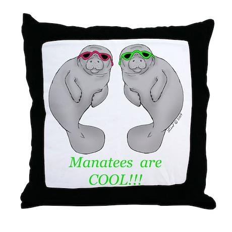 Cool Manatee Throw Pillow