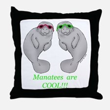 Cool Manatee Throw Pillow