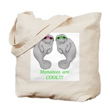 Cool Manatee Tote Bag