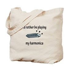 Playing My Harmonica Tote Bag