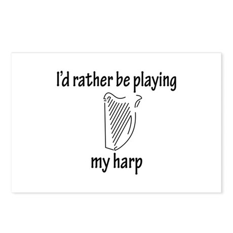 Playing My Harp Postcards (Package of 8)