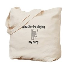 Playing My Harp Tote Bag