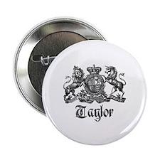 "Taylor Vintage Crest Family Name 2.25"" Button"