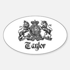 Taylor Vintage Crest Family Name Oval Decal