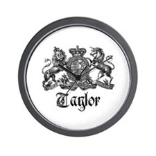 Taylor Vintage Crest Family Name Wall Clock