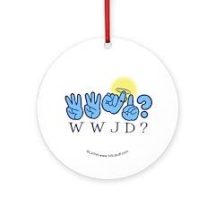 WWJD? Ornament (Round)