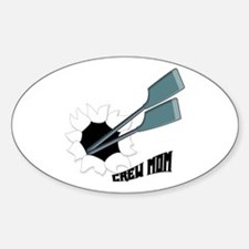 Crew Mom Oval Decal