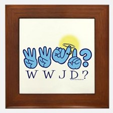 WWJD? Framed Tile