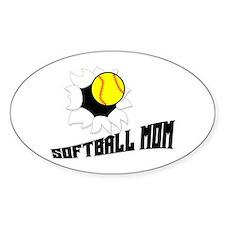 Softball Mom Oval Decal