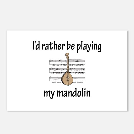 Playing My Mandolin Postcards (Package of 8)