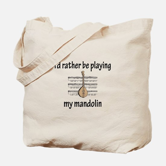 Playing My Mandolin Tote Bag