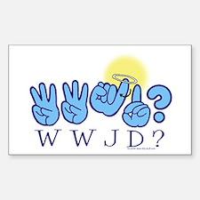 WWJD? Rectangle Decal