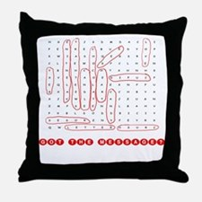 Word Search Valentine Throw Pillow