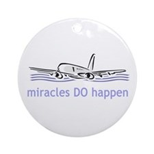 Miracle Plane Ornament (Round)