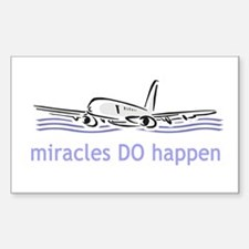 Miracle Plane Rectangle Decal