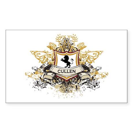 Cullen Crest Rectangle Sticker