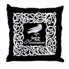 Raven Nevermore Throw Pillow