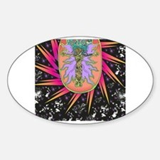 Cool Mixed media Sticker (Oval)