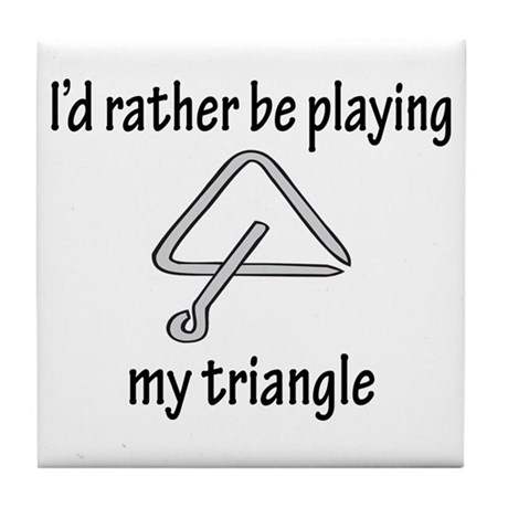 Playing My Triangle Tile Coaster