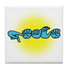 PEACE Glow Tile Coaster