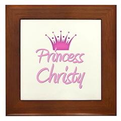 Princess Christy Framed Tile