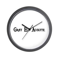 Gray Elf Acolyte Wall Clock