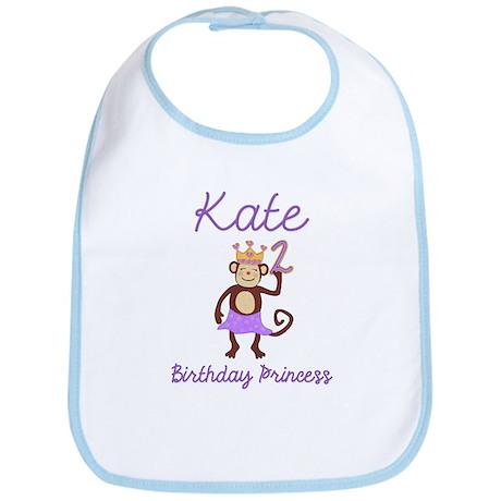 2nd Birthday Princess Monkey Bib