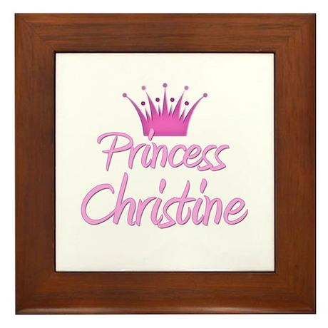 Princess Christine Framed Tile