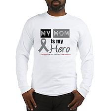 Brain Cancer Mom Long Sleeve T-Shirt