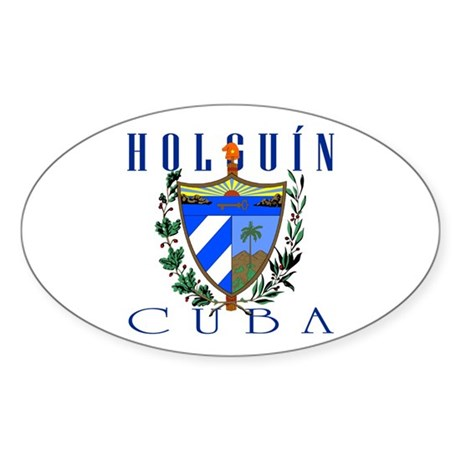 Holguin Oval Sticker