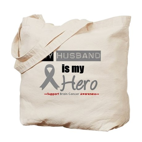 Brain Cancer Husband Tote Bag