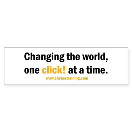 Changing the World... Bumper Sticker