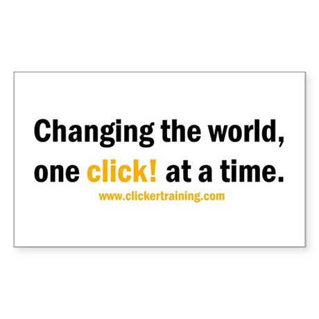 Changing the World... Rectangle Sticker