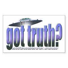 Got Truth? Blue Rectangle Sticker