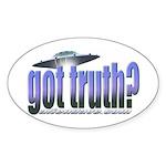 Got Truth? Blue Oval Sticker