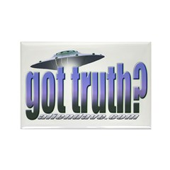 Got Truth? Blue Rectangle Magnet
