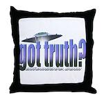 Got Truth? Blue Throw Pillow