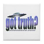 Got Truth? Blue Tile Coaster
