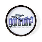 Got Truth? Blue Wall Clock
