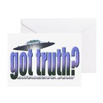 Got Truth? Blue Greeting Cards (Pk of 10)