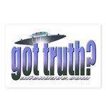 Got Truth? Blue Postcards (Package of 8)
