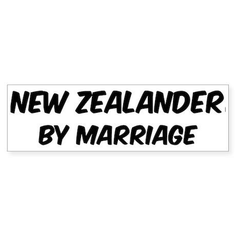 New Zealander by marriage Bumper Sticker