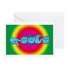 Rainbow PEACE Greeting Card
