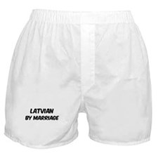 Latvian by marriage Boxer Shorts