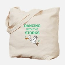 Dancing with the Storks Tote Bag