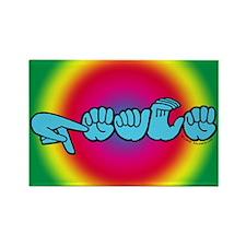 Rainbow PEACE Rectangle Magnet
