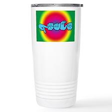 Rainbow PEACE Travel Mug